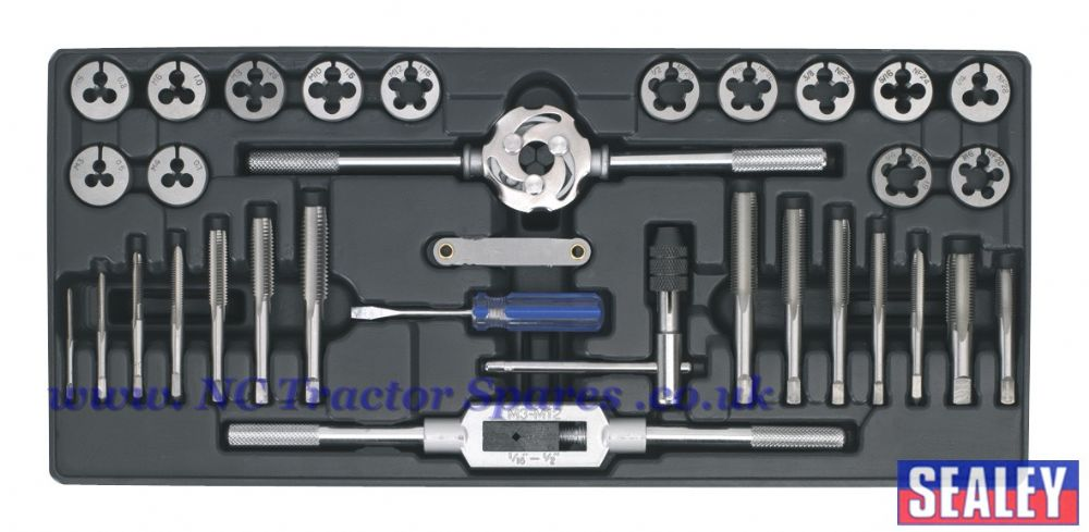 Tool Tray with Tap & Die Set 33pc